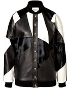 Fausto Puglisi Leather Patchwork Bomber Jacket - Lyst