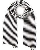 Engineered Garments Striped Scarf - Lyst
