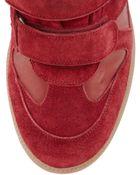 Isabel Marant Burt Hightop Wedge Sneaker Red - Lyst