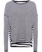 Velvet By Graham & Spencer Stripe Sweater - Lyst