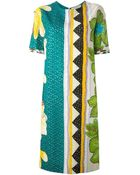 Etro Embroidered Printed Dress - Lyst