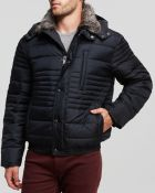 Marc New York Dave Fur Collar Down Bomber Jacket - Lyst
