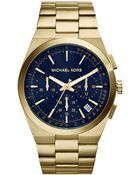 Michael Kors Men'S Chronograph Channing Gold-Tone Stainless Steel Bracelet Watch 43Mm Mk8338 - Lyst