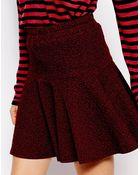 Ganni Skater Skirt In Textured Tweed - Lyst