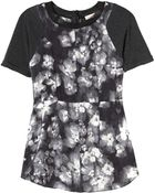 Rebecca Taylor Short Sleeve Ghost Flower Top - Lyst