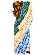 Vivienne Westwood Anglomania Harp Printed Crepe Dress - Lyst