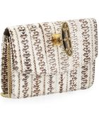 Armenta Watersnake Knuckle-Duster Box Clutch - Lyst