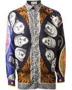 Gianni Versace Vintage Mixed Print Shirt - Lyst