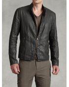 John Varvatos Linen Resin Zip Front Jacket - Lyst