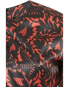 J. Mendel Leaf Printed Silk Charmeuse Long Sleeve Gown - Lyst