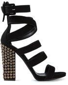 Giuseppe Zanotti Studded Heel Strappy Sandals - Lyst
