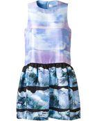 Victoria, Victoria Beckham Silk Printed Mini Dress - Lyst