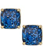 Kate Spade New York Gold-Tone Blue Glitter Stone Stud Earrings - Lyst