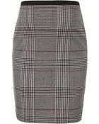 Topshop Maternity Prince Of Wales Check Tube Skirt - Lyst