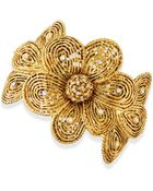 Jose & Maria Barrera Gold-Plated Flower Bracelet With Crystals - Lyst