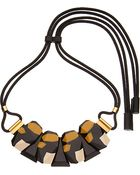 Marni Four Stone Resin Necklace - For Women - Lyst