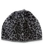 Portolano Leopard-Print Knit Beanie - Lyst