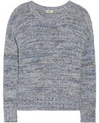 L'Agence Cotton And Cashmere-Blend Sweater - Lyst
