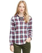 Brooks Brothers Cotton Flannel Shirt - Lyst