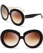 Valentino Oversized Round Sunglasses - Lyst