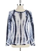 Two By Vince Camuto Tie-Dyed Knit Sweater - Lyst