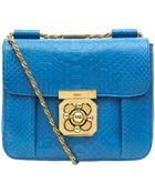 Chloé Blue Elsie Small Python Bag - Lyst