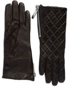 Michael Kors Quilted Leather Gloves - Lyst