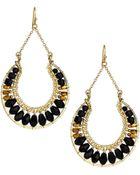 Nakamol Crystal Hoop Drop Earrings - Lyst