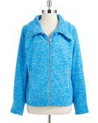 Calvin Klein Performance Fleece Zip Up Jacket - Lyst