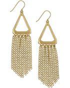 Sam Edelman Gold-Tone Fringe Drop Earrings - Lyst