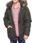 True Religion Fur Hood Mens Parka Jacket - Lyst