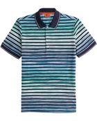 Missoni Striped Cotton Polo Shirt - Lyst