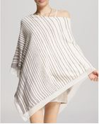 Halston Heritage Poncho - Printed Off-Shoulder - Lyst