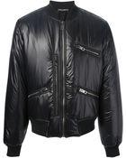 Dolce & Gabbana Padded Bomber Jacket - Lyst