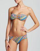 Trina Turk Peruvian Stripe Buckle Bandeau Bikini Top - Lyst