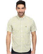 Lacoste Poplin Short Sleeve Bd Gingham Shirt - Lyst
