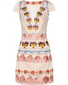 Temperley London Valencia Embroidered Silk-Blend Satin Dress - Lyst
