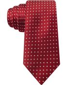 Tommy Hilfiger Satin Dot Slim Tie - Lyst