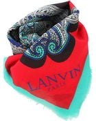 Lanvin Printed Scarf - Lyst