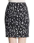 Rachel Zoe Ward Animal-Print Pencil Skirt - Lyst