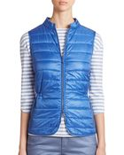 Lafayette 148 New York Quilted Cinched Vest - Lyst