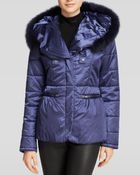 Grayse Fox Fur Trim Puffer Jacket - Lyst