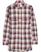 Etoile Isabel Marant Upton Plaid Linen-Blend Shirt - Lyst