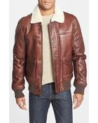 Timberland 'Mount Major' Genuine Shearling Bomber Jacket - Lyst
