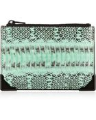 Alexander Wang Prisma Skeletal Elaphe and Leather Pouch - Lyst