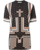 Givenchy Geometric Print Oversized Sweater - Lyst
