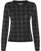 Alice + Olivia Diamond Rhinestone Sweater - Lyst