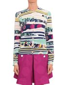 Kenzo Cotton Cardigan With Multiple Prints - Lyst