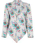 Kenzo Vintage Floral Print Open Jacket - Lyst