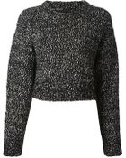 Proenza Schouler Cropped Knit Sweater - Lyst